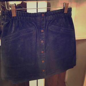 Bcbg navy mini skirt